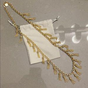 Kendra Scott gold Finley fringe necklace